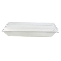 PacknWood Clear Dome Lid for Eco Design Plate 10.2 in x 5.1 in 210ECODL2714