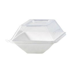 PacknWood Clear Dome Lid for Eco Design Plate 5.1 in x 3.3 in 210ECODL139