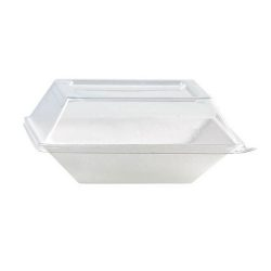 PacknWood Clear Dome Lid for Eco Design Plate 5.1 in x 5.1 in 210ECODL1414