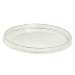 PacknWood PP Clear Flat Lid for Deli Container 12-24 oz 210SOUPLPP114