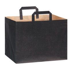 PacknWood Paper Black Bag Handle 12.5 in x 8.7 in x 9.65 in 210CABTRN