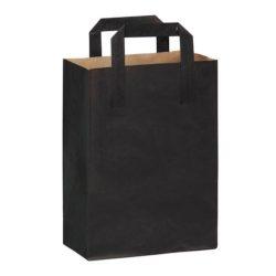 PacknWood Paper Black Bag Handle 6.85 in x 3.7 in x 8.9 in 210MCABN