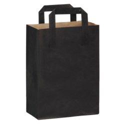 PacknWood Paper Black Bag Handle 7.8 in x 4 in x 11 in 210CABABYN