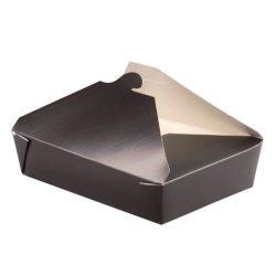 PacknWood Paper Black Meal Box 36 oz 210BIO3N