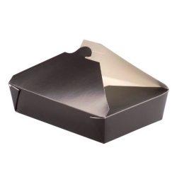 PacknWood Paper Black Meal Box 78 oz 210BIO4N