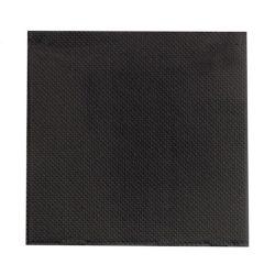 PacknWood Paper Black Napkin 2-Ply 10 in x 10 in 210SMP2525N
