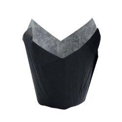 PacknWood Paper Black Tulip Baking Case 1.25 oz 1.1 in 210CPST1N