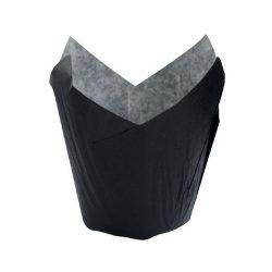 PacknWood Paper Black Tulip Baking Case 3 oz 1.5 in 210CPST3N