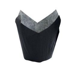 PacknWood Paper Black Tulip Baking Case 5 oz 2.3 in 210CPST8N