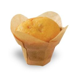 PacknWood Paper Golden Brown Silicone Lotus Baking Cup 1 oz 4.3 in 209CPSL1M