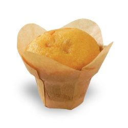 PacknWood Paper Golden Brown Silicone Lotus Baking Cup 4 oz 1.5 in 209CPSL3M