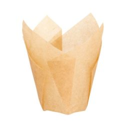 PacknWood Paper Golden Brown Silicone Tulip Baking Cup 1.25 oz 1.1 in 209CPST1M