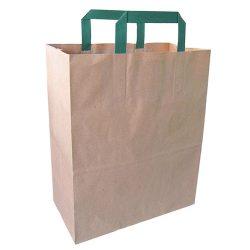 PacknWood Paper Kraft Bag Handle 10.5 in x 5.5 in x 13 in 210CAB2518BR