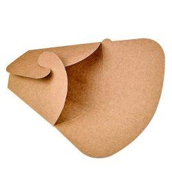 PacknWood Paper Kraft Crepe Holder 5.9 in x 7.25 in 210CREPKR