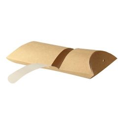 PacknWood Paper Kraft Pillow Box 6.3 in x 4.25 in x 1.75 in 210CREPCAR