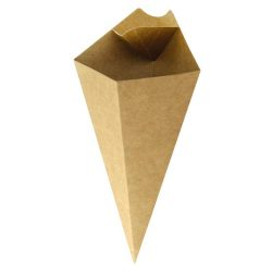 PacknWood Paper Kraft Sauce Compartment Cone 5 oz 210CONFR1KR