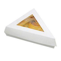 PacknWood Paper White Window Slice Box 12 oz 6.6 in x 6.6 in x 5.1 in 209PATTRI