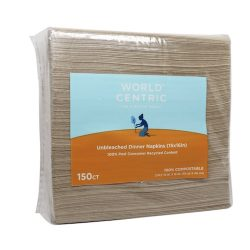 World Centric Eco Dinner Napkin 2-Ply 15 in x 16 in NP-SC-DN