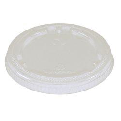 World Centric LID PLA Clear Flat Souffle Cup 4 oz CPL-CS-9F