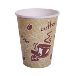 Custom Printed Compostable Paper Hot Cup 8 oz