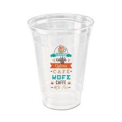 Custom Printed Recycled PET Plastic Cup 12 oz